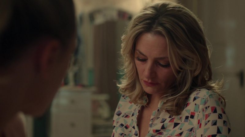"Patterned Shirt Worn by Mädchen Amick in ""Riverdale"" TV Show"
