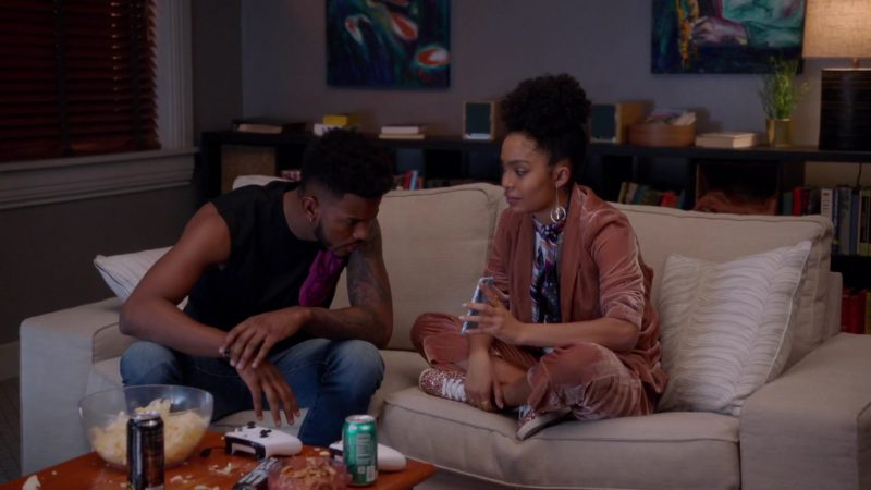 "Peach Jacket and Pants Worn by Yara Shahidi in ""Grown-ish"" - TV Show Outfits and Products"