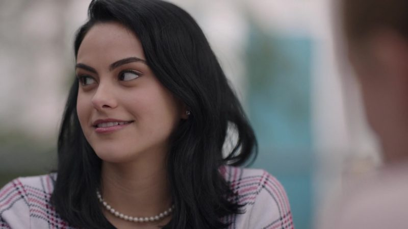 "Pearl Necklace Worn by Camila Mendes in ""Riverdale"" TV Show - Female Fashion"