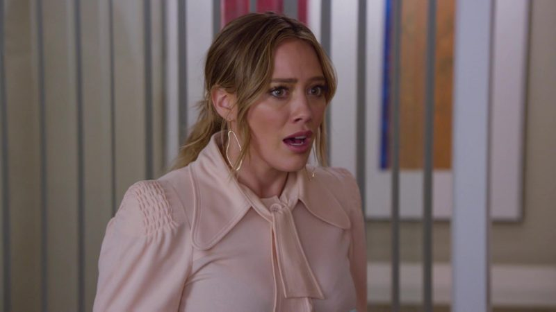 "Pink Blouse Worn by Hilary Duff in ""Younger"" TV Show"