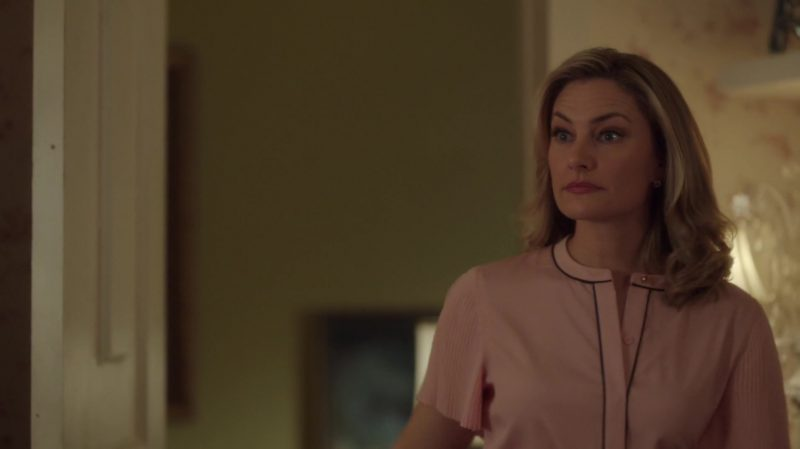"Pink Blouse Worn by Mädchen Amick in ""Riverdale"" - TV Show Outfits and Products"