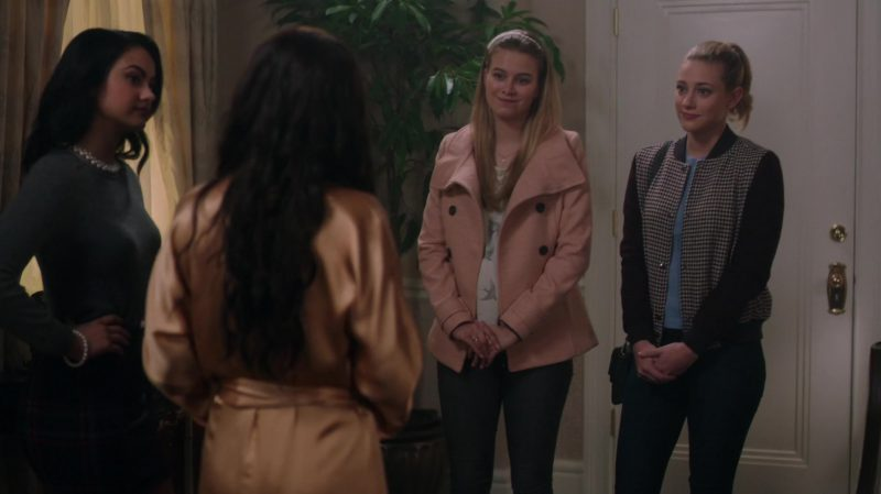 """Pink Coat Worn by Tiera Skovbye in """"Riverdale"""" - TV Show Outfits and Products"""