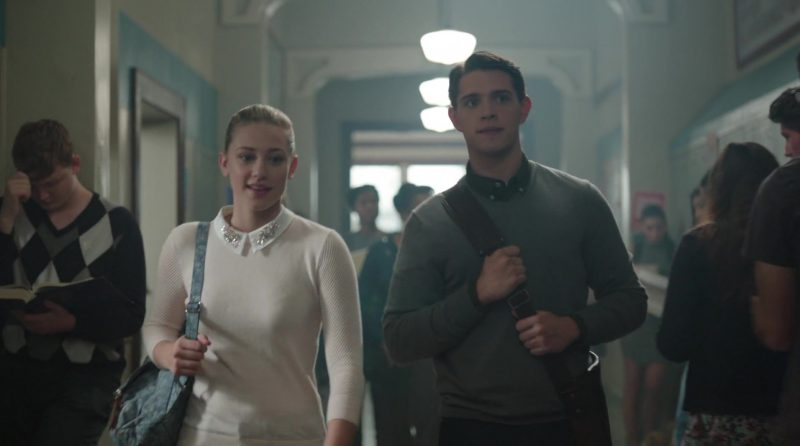 """Pink Sweater with White Collar Worn by Lili Reinhart in """"Riverdale"""" TV Show"""