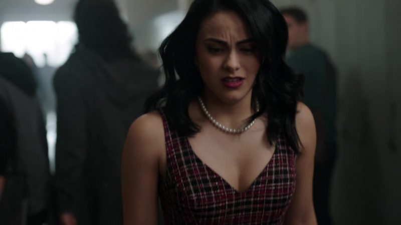 "Plaid Dress With Belt Worn by Camila Mendes in ""Riverdale"" - TV Show Outfits and Products"