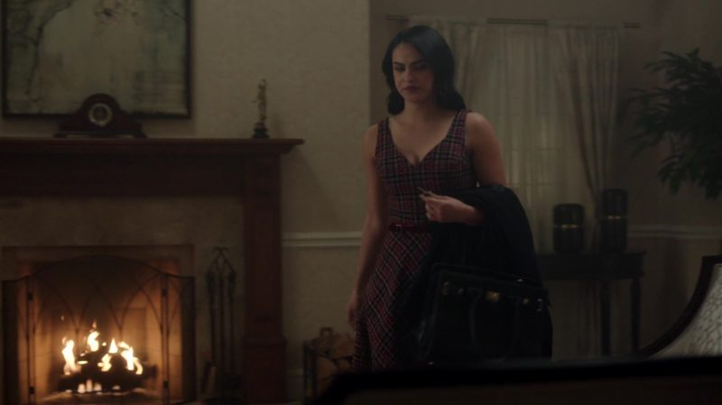 "Plaid Dress With Belt Worn by Camila Mendes in ""Riverdale"" TV Show - Female Fashion Outfits and Products"