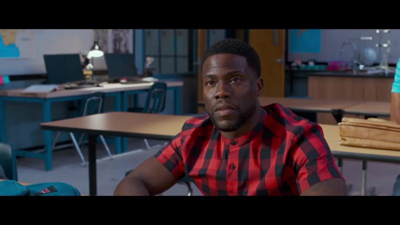 """Plaid Short Sleeve Shirt Worn by Kevin Hart in """"Night School"""" - Movie Outfits and Products"""