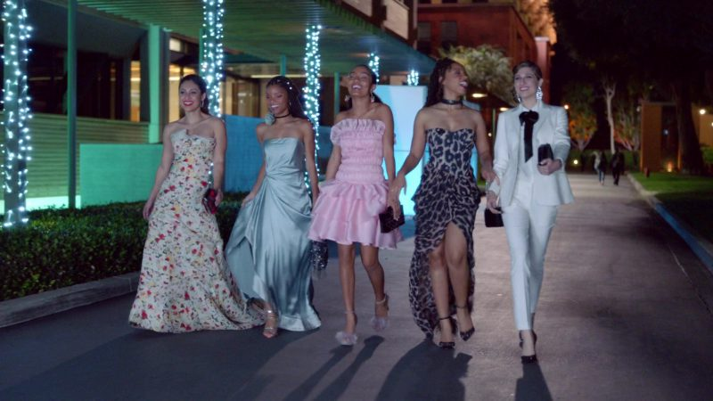 "Prom Ball Dresses and Pantsuit in ""Grown-ish"" - TV Show Outfits and Products"