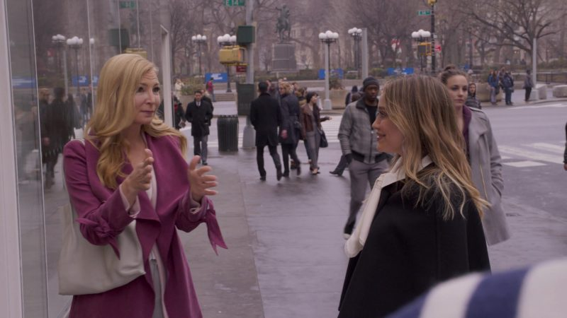 """Purple Coat Worn by Jennifer Westfeldt in """"Younger"""" TV Show - Female Fashion Outfits and Products"""