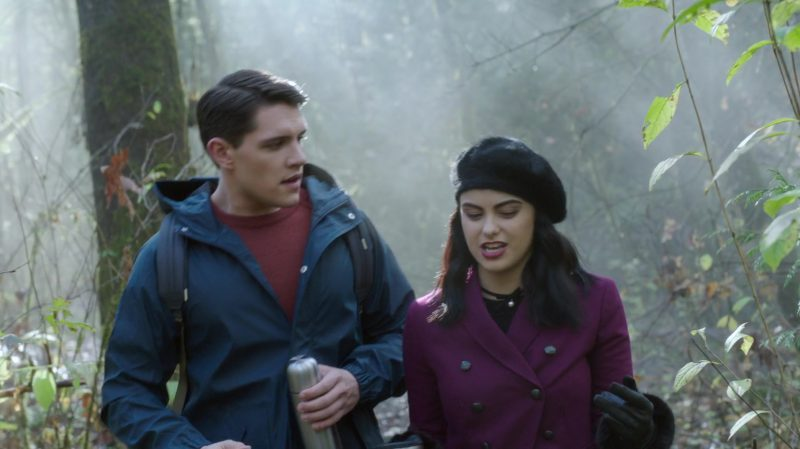 """Fashion Trends 2021: Purple Coat and Beret Worn by Camila Mendes in """"Riverdale"""""""