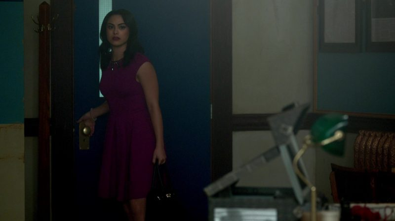 """Fashion Trends 2021: Purple Dress Worn by Camila Mendes in """"Riverdale"""""""