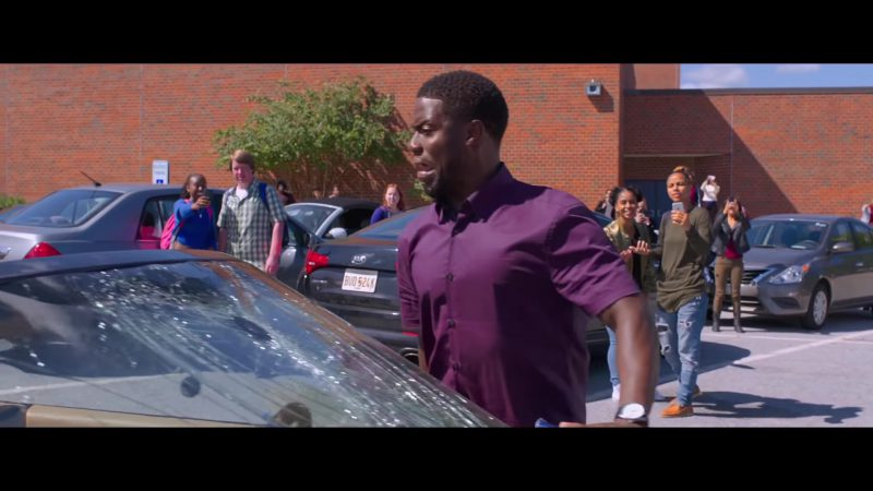 "Purple Short Sleeve Shirt Worn by Kevin Hart in ""Night School"" Movie - Male Fashion"