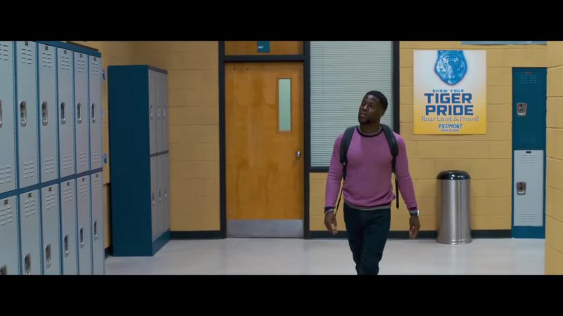 "Purple Sweater Worn by Kevin Hart in ""Night School"" Movie - Male Fashion Outfits and Products"