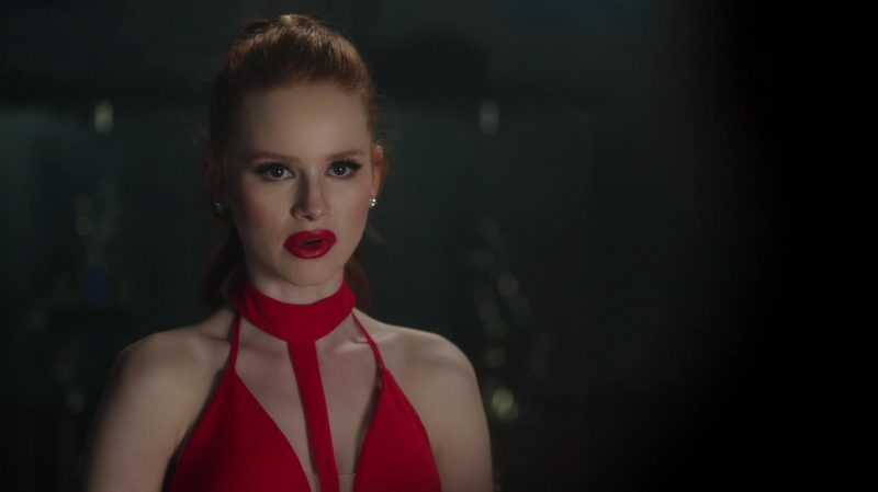 "Red Long Dress Worn by Madelaine Petsch in ""Riverdale"" TV Show"