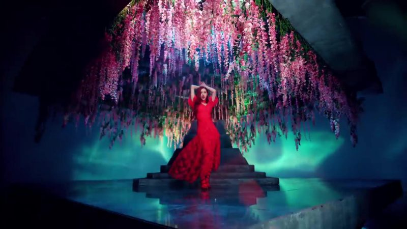 "Red Long Dress in ""DDU-DU DDU-DU"" K-Pop Music Video by BlackPink - Female Celebrity Style"