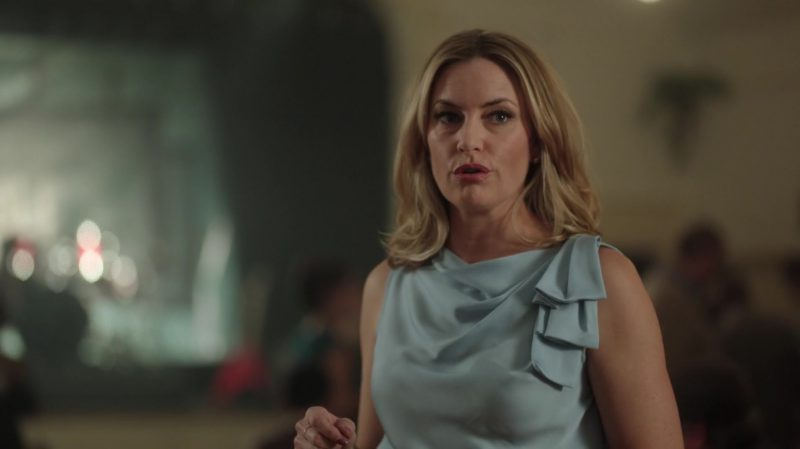 "Ruffle Blouse Worn by Mädchen Amick in ""Riverdale"" TV Show - Female Fashion Outfits and Products"
