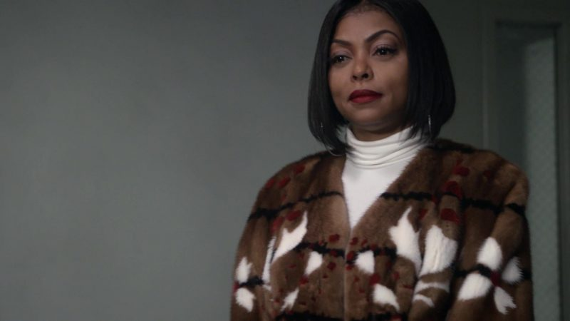 """Short Brown Fur Coat Worn by Taraji P. Henson in """"Empire"""" TV Show - Female Fashion Outfits and Products"""