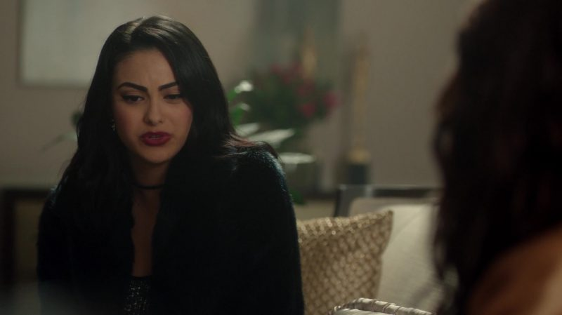 """Short Fur Coat Worn by Camila Mendes in """"Riverdale"""" - TV Show Outfits and Products"""