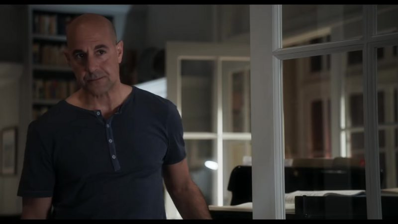 "Short Sleeve Shirt Worn by Stanley Tucci in ""The Children Act"" Movie"