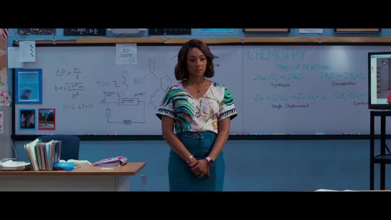 """Fashion Trends 2021: Short Sleeve Top and Pencil Skirt Worn by Tiffany Haddish in """"Night School"""""""