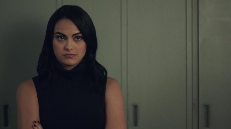 "Sleeveless Turtleneck Sweater Worn by Camila Mendes in ""Riverdale"" - TV Show Outfits and Products"