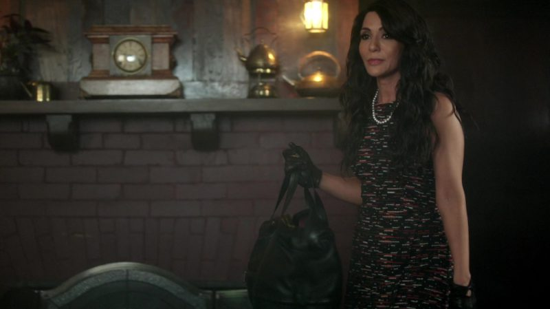 "Sleeveless Tweed Dress with Asymmetric Hem Worn by Marisol Nichols in ""Riverdale"" TV Show"