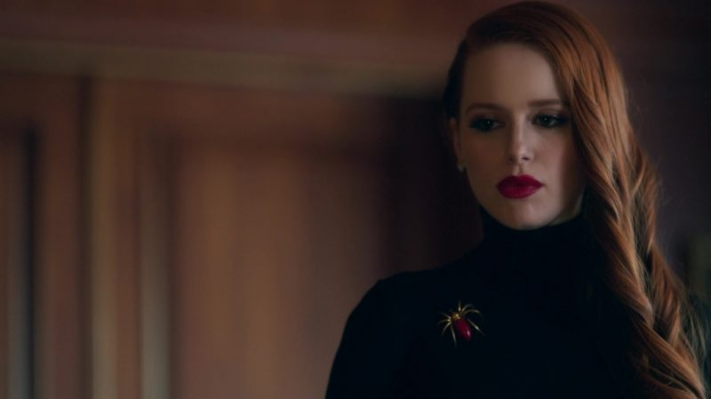 """Spider Brooch Worn by Madelaine Petsch in """"Riverdale"""" - TV Show Outfits and Products"""