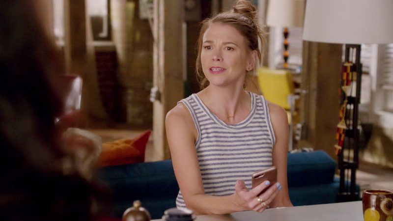 "Striped Tee Worn by Sutton Foster in ""Younger"" TV Show"
