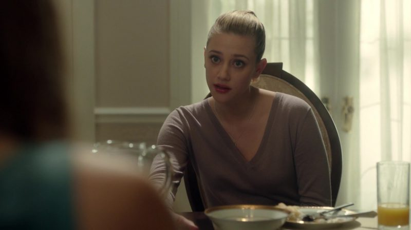 "V-Neck Jumper Worn by Lili Reinhart in ""Riverdale"" TV Show"