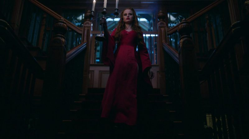"Long Sleeve Red Dress Worn by Madelaine Petsch in ""Riverdale"" TV Show"