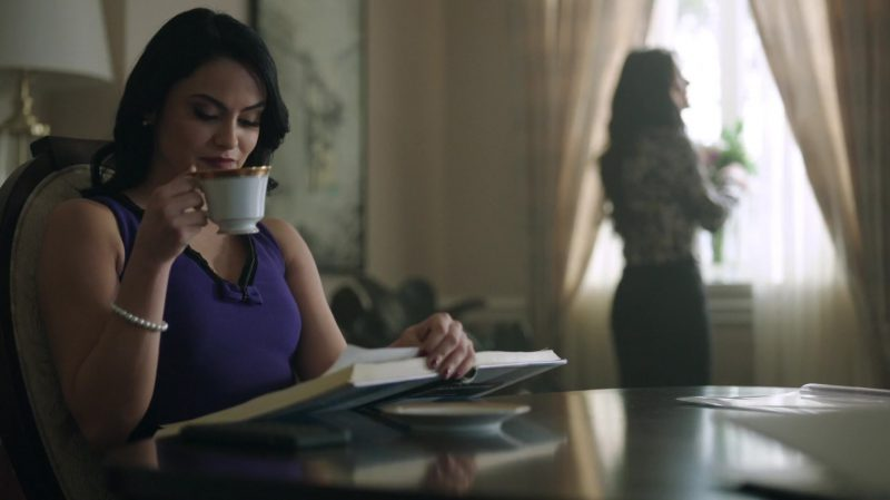 """Violet Top Worn by Camila Mendes in """"Riverdale"""" TV Show"""