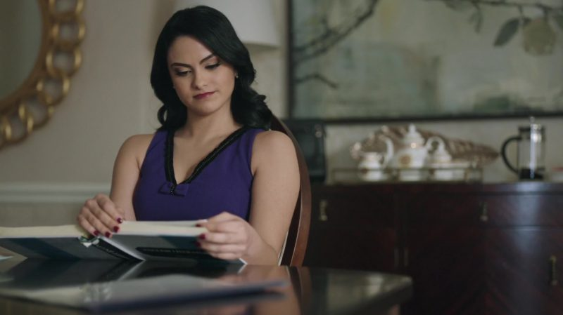 """Fashion Trends 2021: Violet Top Worn by Camila Mendes in """"Riverdale"""""""