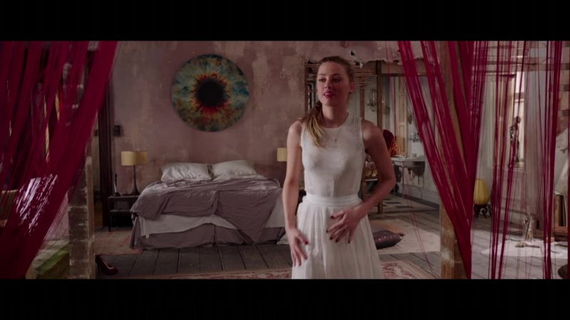 "White Dress Worn by Amber Heard in ""London Fields"" Movie"