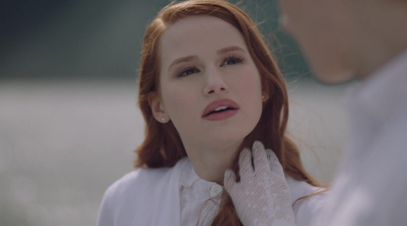 "White Gloves Worn by Madelaine Petsch in ""Riverdale"" - TV Show Outfits and Products"