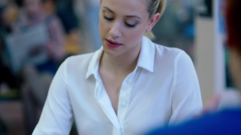 "White Shirt Worn by Lili Reinhart in ""Riverdale"" TV Show - Female Fashion Outfits and Products"