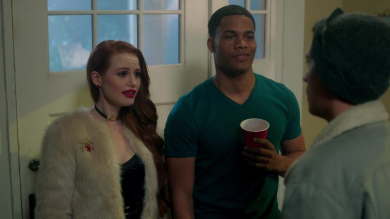 "White Short Fur Coat Worn by Madelaine Petsch in ""Riverdale"" TV Show - Female Fashion"
