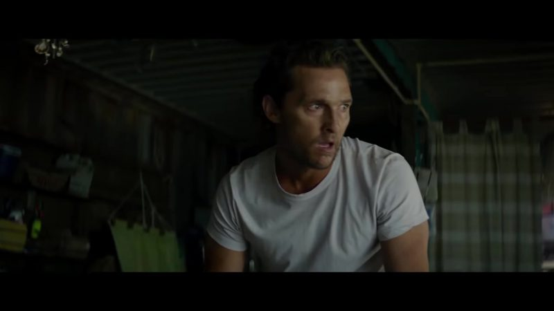 "White T-Shirt Worn by Matthew McConaughey in ""Serenity"" Movie"