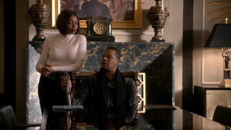 "Female  Celebrity Style:  White Turtleneck Sweater Worn by Taraji P. Henson in ""Empire"" TV Show"
