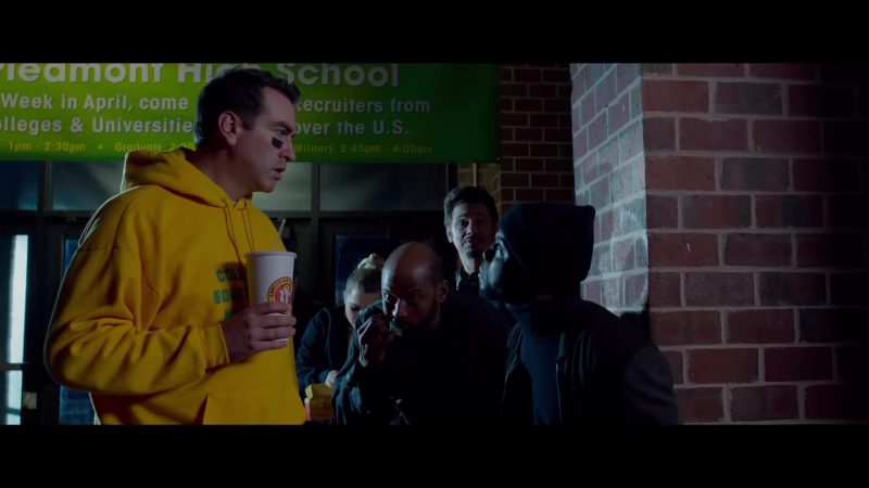 "Yellow Hoodie Worn by Rob Riggle in ""Night School"" Movie"