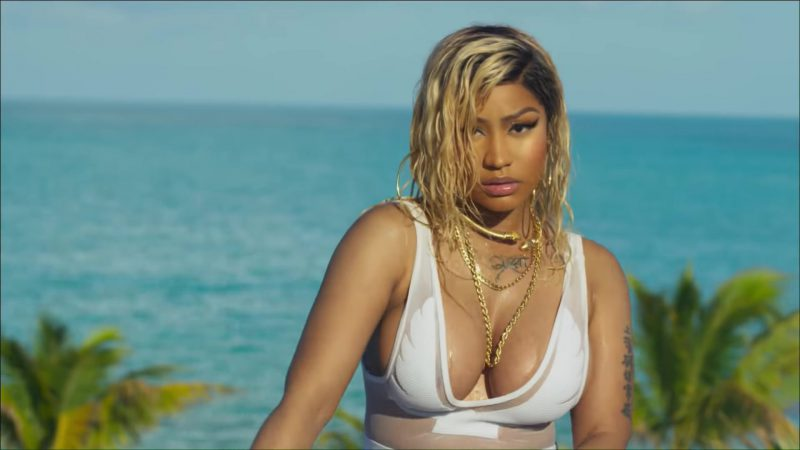 "White Jumpsuit Worn by Nicki Minaj in ""Bed"" Music Video"