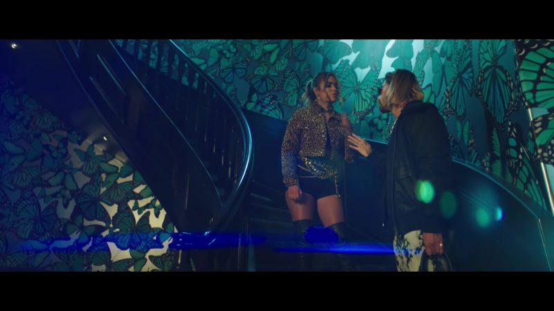 "Leopard Coat Worn by Karol G in ""Créeme"" Music Video (2018)"