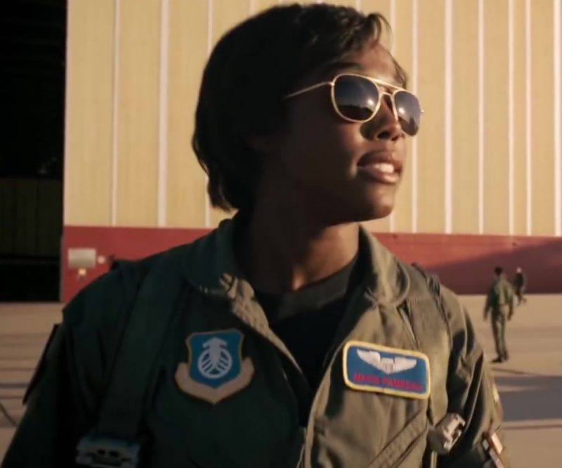 Female  Celebrity Style:  Aviator Sunglasses Worn by Lashana Lynch in Captain Marvel Movie