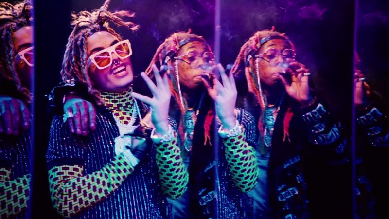 "Glasses With Yellow Lenses and White Frames Worn by Lil Pump in ""Be Like Me"" Music Video - Male Celebrity Style"