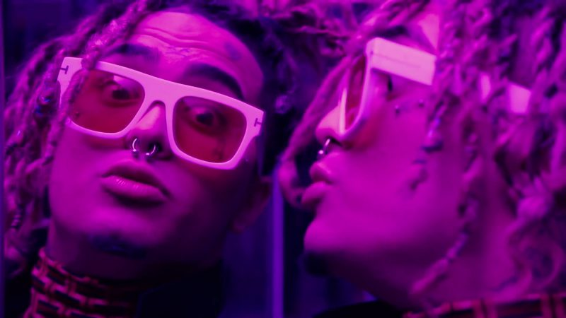 "Glasses With Yellow Lenses and White Frames Worn by Lil Pump in ""Be Like Me"" - Youtube Outfits and Products"