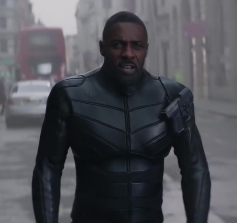 Male  Celebrity Style:  Leather Jacket Worn by Idris Elba in Hobbs And Shaw Movie