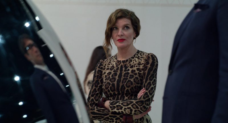 Leopard Dress Worn by Rene Russo in Velvet Buzzsaw Movie - Female Fashion Outfits and Products