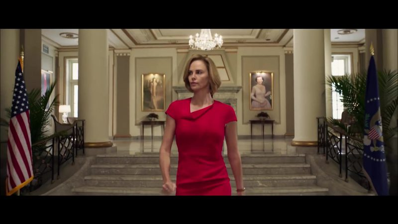 Red Dresses Worn by Charlize Theron in Long Shot - Movie Outfits and Products
