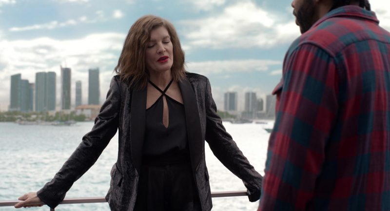 Velvet Sparkly Blazer Worn by Rene Russo in Velvet Buzzsaw - Movie Outfits and Products