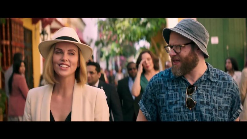 White Hat Worn by Charlize Theron in Long Shot Movie