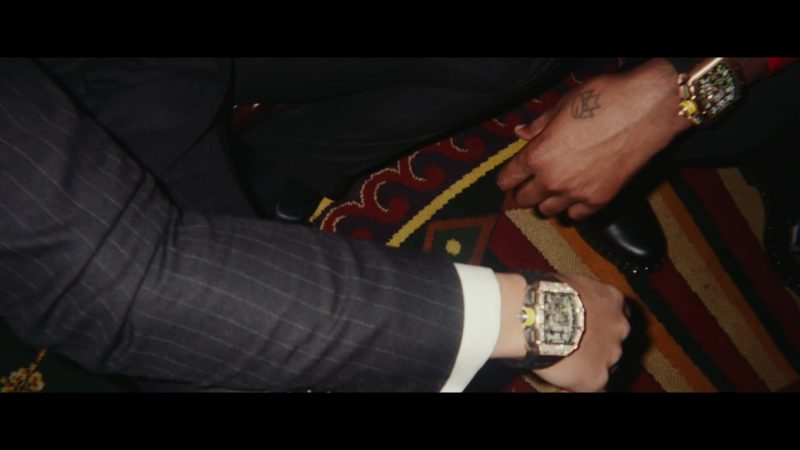 Male  Celebrity Style:  Wrist Watch Worn by Drake in Going Bad Music Video