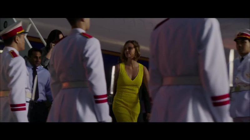 Yellow Dress Worn by Charlize Theron in Long Shot Movie
